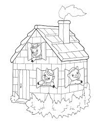 stick house coloring kids drawing coloring pages marisa