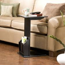 Wooden Sofa Furniture Furniture Cool Black Painted Wooden Sofa Side Table Magazine