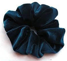 hair scrunchy teal blue velvet hair scrunchy regular made in the