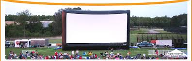 Backyard Movie Theatre by Southern Outdoor Cinema Inflatable Movie Screen Rentals