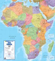 africa map color sa maps and flags