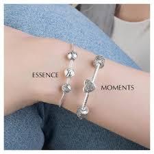 beaded silver bracelet pandora images Pandora essence beaded silver necklace 596005 john greed jewellery jpg