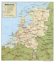 Physical Map Of Germany by Maps Of Holland Detailed Map Of Holland In English Tourist Map