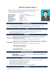 Simple Resume Templates Download Simple Resume Format In Ms Word Simple Resume Format