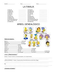 la familia los simpsons family by misstdunne teaching resources