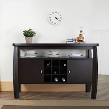modern buffet table 2 door cabinet with wine storage shelf dining