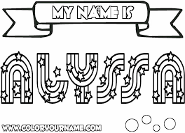 my name coloring pages printable name coloring pages alyssa