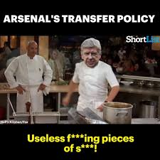 Chef Ramsy Meme - arsne wengers finally gone full gordon ramsay at arsenal watch or
