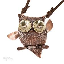 owl jewelry necklace images Cute owl necklace copper wearable sculpture popnicute jewelry jpg