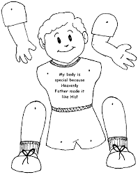 boy body outline clipart clipart kid inside thanksgiving coloring
