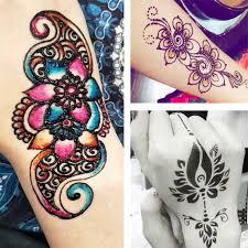 2pcs set indian henna tattoo stencils templates airbrush lace