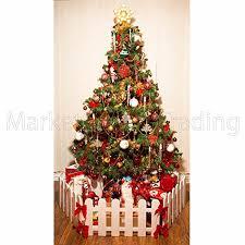 christmas tree decoration surround fence 3 x lengths u003d1 8mtr white