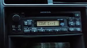 honda odyssey anti theft radio code error on a honda radio what to do