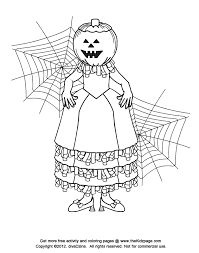 jackolantern halloween free coloring pages for kids