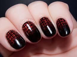 garnet glittering gradient grid gels chalkboard nails nail art