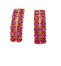 gold earring studs designs ruby cut harem design 14ct yellow gold lever stud earrings