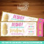 hawaiian birthday party invitations luau birthday party