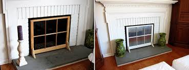 Fireplace Opening Covers by 10 Ideas To Diy Your Own Fireplace Screen