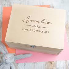 personalised keepsake box personalised baby girl keepsake box memory box by dust and