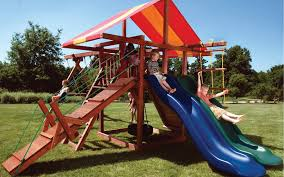 Playground Sets For Backyards by Low Maintenance Swing Sets Give You More Quality Play Time With Kids