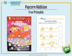 popcorn free printable monster