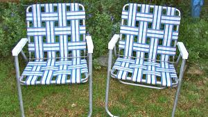 Vintage Patio Furniture - vintage patio ideas with light weight lawn chairs and stripes