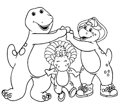 charming beautiful free barney friends cartoon coloring pages