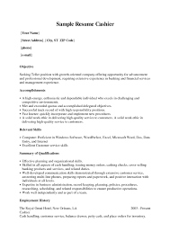 Resume Sample For Teller Position by Examples Of Excellent Resumes