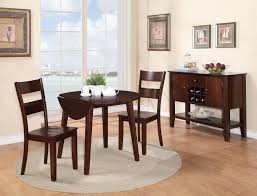 Espresso Bistro Table House 8203 Drop Leaf Table With Splayed Legs L
