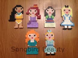 princesses perler beads geekery magnet christmas by songbirdbeauty