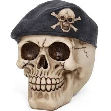 wholesale skull ornament with beret something different