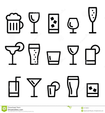drink vector drink alcohol beverage vector line icons set stock vector image