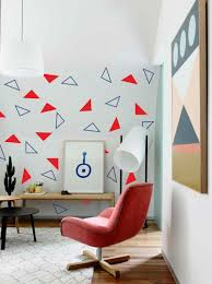 fashion 96pcs 48solid and 48hollow triangles vinyl abstract