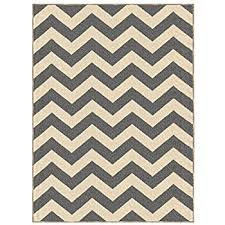 Zig Zag Area Rug Amazon Com Chesapeake Jute Cotton Printed Area Rug 5 Feet By 7