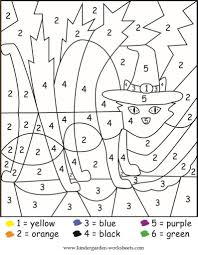 bunch ideas of color by numbers for kindergarten printable about