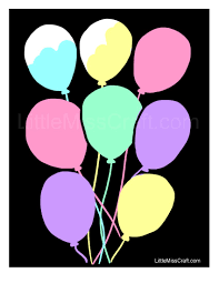 crafts balloons chalkboard coloring page