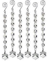 snowflake ornament strands set of 6 hanging prism