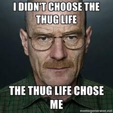 Thug Life Meme - 20 best i didn t choose the thug life memes smosh