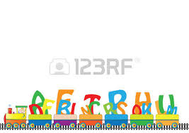 colorful kids border engine numbers royalty free cliparts