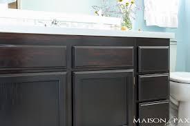 Update Bathroom Vanity How To Use Gel Stain To Update Bathroom Cabinets Gel Stain