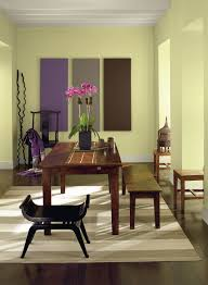 dining room diningroom design interior decoration yellow walls