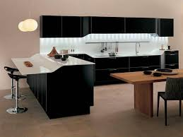 furniture black modern kitchen cabinets with white countertop two