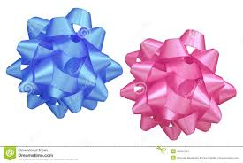 blue bows pink and blue bows stock image image 69661