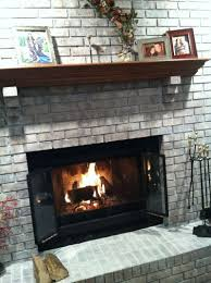 painting brick fireplace whitewash home design ideas