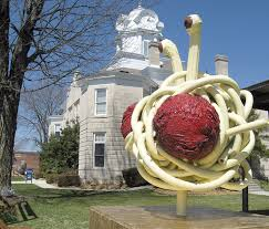 crossville tn flying spaghetti takes up residence at county courthouse