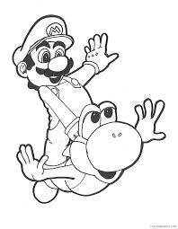 yoshi coloring pages riding motorcycle coloring4free