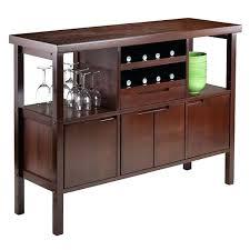 wine rack brown sideboard buffet server wine rack dining room