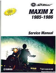 1985 1986 yamaha xj700x maxim x motorcycle service manual lit