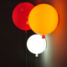 novelty colorful balloon wall lamps modern children bedroom