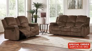 Chenille Reclining Sofa Living Rooms Java Reclining Sofa Loveseat Set